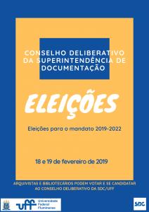 Conselho Deliberativo da Superintendência de Documentação - Eleições 2019